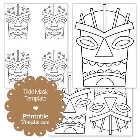 Tiki Totem Templates by Printable Tiki Mask Template From Printabletreats
