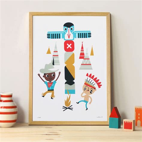 poster chambre enfant indien makii