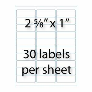 address labels 2 5 8quot x 1 quot 30 up averyr 5160 With avery 5160 return address label template