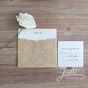 fancy floral pearl laser cut wholesale pocket wedding With wedding invitation pockets wholesale