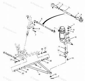 Polaris Atv 1995 Oem Parts Diagram For Steering  Aarm Assembly Trail Blazer