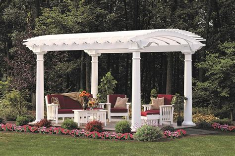 vinyl gazebo kits arcadian vinyl pergola from dutchcrafters amish furniture 3277