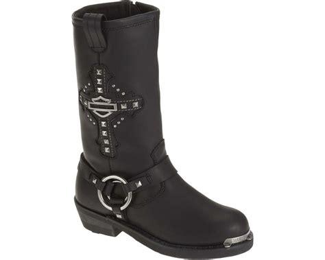 Harley-davidson Women's Mila 10-inch Black Leather