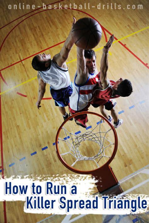 basketball offense spread triangle drills run
