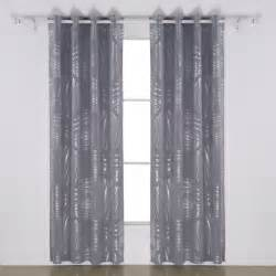 deconovo shimmering foil print thermal insulated drapes blackout grommet curtain what s it worth