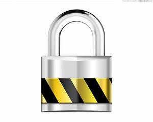 Silver padlock, security icon | PSDGraphics