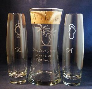 Unity Sand Vases With Lids 3 pc wedding unity sand ceremony set engraved 8x4 vase