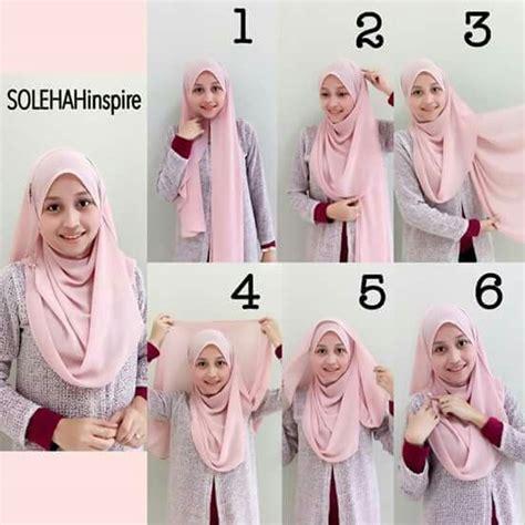 tutorial hijab labuh  images  hijab tutorial