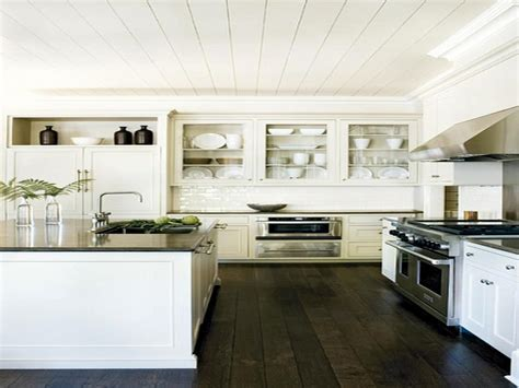 White Kitchen Cabinets With Dark Hardwood Floors Choice