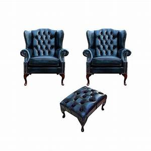 2x Ohrensessel Sofa Fernseh 1 Sitzer Couch Polster Set