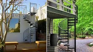 Escalier Colimaçon Beton : un escalier ext rieur en kit comment faire le bon choix ~ Melissatoandfro.com Idées de Décoration