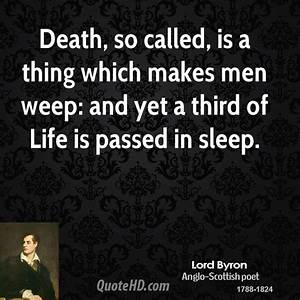 Lord Byron Deat... Lord Byron Sleep Quotes