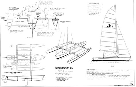 Trimaran Design Pdf by Seaclipper 20 Plans Now Unleashed Small Trimarans