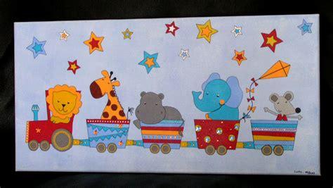 peinture chambre bebe garcon tableau pour naissance petit garçon et animaux