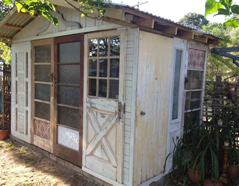 Shed From Recycled Materials by Beautiful Junk Recycled Door Garden Shed
