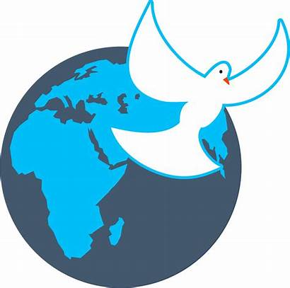 Dove Globe Clip Peace Clipart Domain Vector