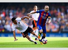 Barcelona vs Real Madrid Andres Iniesta and Samuel Umtiti
