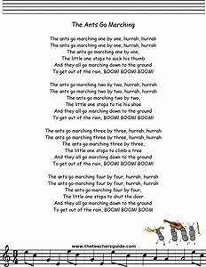 One By One : ants go marching lyrics printout preschool stuff pinterest the o 39 jays for the and teaching ~ Medecine-chirurgie-esthetiques.com Avis de Voitures