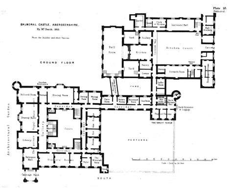 ground floor plan  balmoral castle balmoral castle