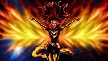 Phoenix Dark Wallpapers Jean Desktop Gray Comic