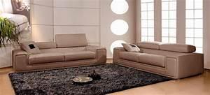 Canapé Cuir Fauteuil : canap s en cuir italien 3 places deux fauteuils victoria ~ Premium-room.com Idées de Décoration