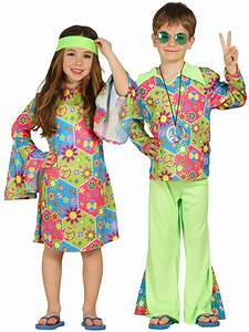 Child Hippy Costume Boys Girls Hippie Fancy Dress Kids 60s 70s Book Week Outfit | eBay