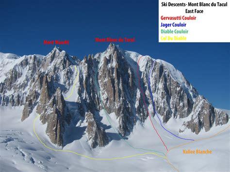 mont blanc du tacul east chamonix topo