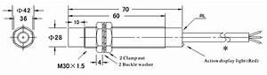 Proximity Sensor  Capacitive  M30  2 Wire  110v