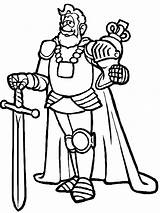 King Coloring Armor sketch template