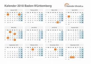 Feiertage 2018 BadenWürttemberg + Kalender