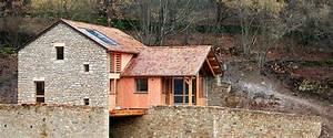 maison bardage bois et pierre xr48 jornalagora With photo de jardin de maison 14 galerie realisations ossature bois charpente escalier