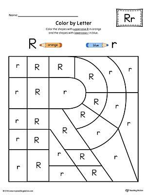 uppercase letter  color  letter worksheet