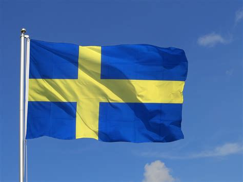 Schweden Flagge, schwedische Fahne 150x250 cm ...