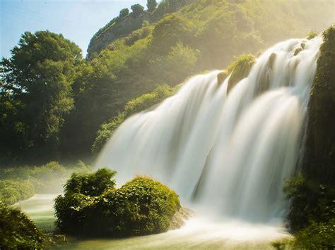 wallpaper waterfall summer hd  nature