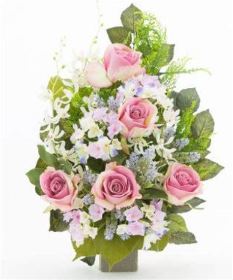 mazzi di fiori finti mazzo di fiori artificiali per loculo con e ortensie