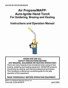 Hand Torch Instructions And Operation Manual
