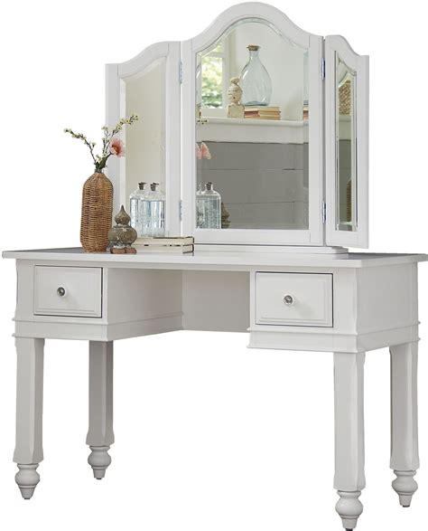 white desk with mirror lake house white writing desk with vanity mirror 1540ndv