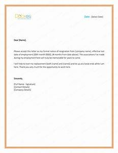 pics photos word resignation letter template free sample With letter template word