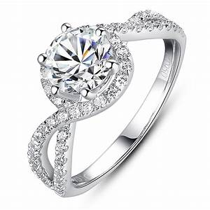 luxury engagement ring 1 carat simulated diamond ring as With wedding rings real diamond