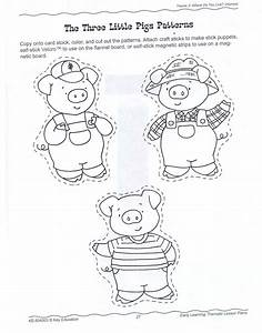 three little pigs once upon a time in gogoland With the three little pigs puppet templates