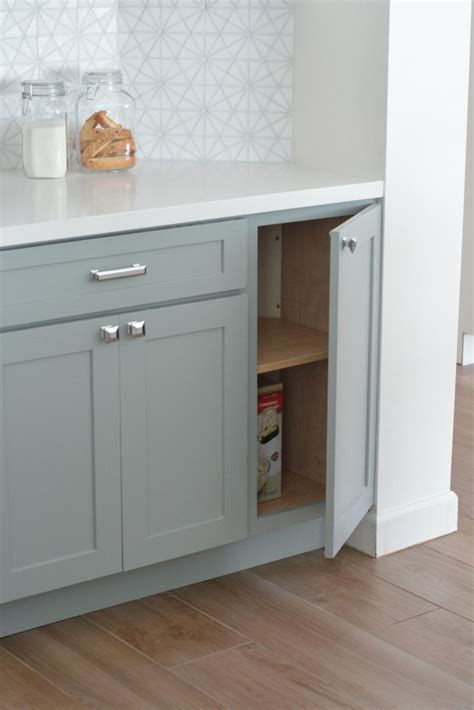 Centsational Remodel Features White & Gray Kitchen Cabinets