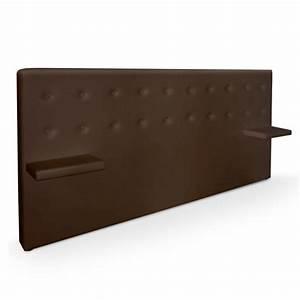 Tete De Lit Marron : tete de lit avec chevet lit chambre adulte tete de lit ~ Melissatoandfro.com Idées de Décoration