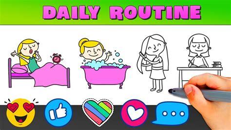 daily routine daily activities  children