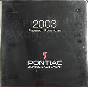 2003 Pontiac Bonneville Repair Shop Manual Original 2 Vol Set