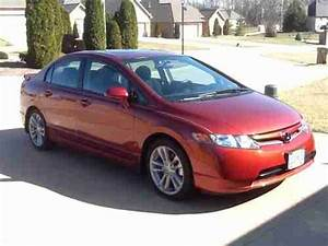 Find Used 2007 Honda Civic Si 4 Door Sedan Habanero Red No