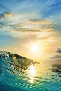 Beautiful Ocean Waves Sunset Beach