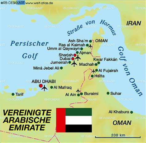 map  united arab emirates uae country welt atlasde