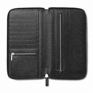 pineider city chic leather travel wallet document case With leather zip document case