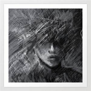 Anxiety In Black And White Art Print By Eringibsonart