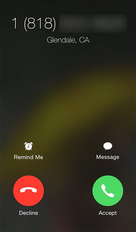 iphone not calls the reason why you to swipe to accept some calls and